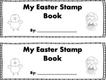 Easter Words Stamp Book