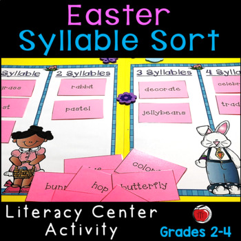 Easter Words Syllable Sort Literacy Center