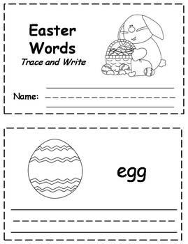 Easter Words Trace & Write Book {FREEBIE}