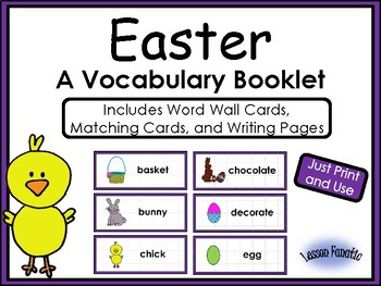 Easter Words Vocabulary Booklet