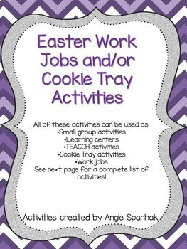 Easter Work Jobs (TEACCH Activities)