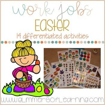 Easter Work Jobs (TEACCH Activities)