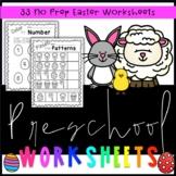 Preschool Easter Worksheets