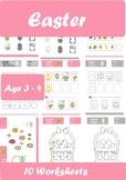 Easter Worksheets Age 3-4