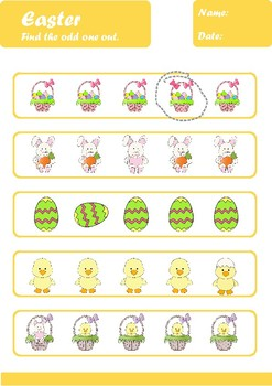 Easter Worksheets Age 4-5