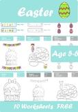 Easter Worksheets Age 5-6