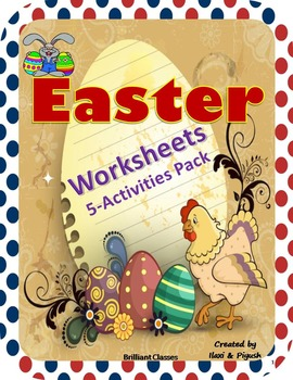 Easter Worksheets and Activities Pack {Grades 2 to 6}