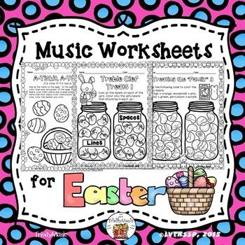 Easter Worksheets for Music