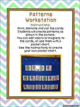 Easter Workstations, Alphabet, rhymes, Numbers, shapes and patterns in Spanish