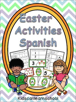 Easter Workstations, Alphabet, rhymes, Numbers, shapes and