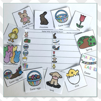 Easter Vocabulary Write Around the Room
