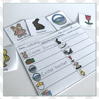 Easter Vocabulary Practice - Write the Room
