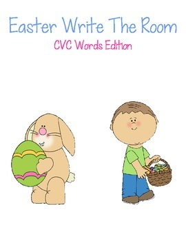 Easter Write The Room-CVC Words