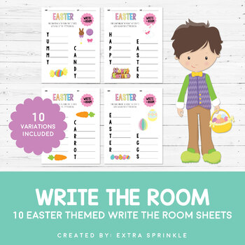 Easter Write The Room Sheets