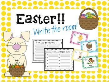 Easter Write the Room! FREEBIE!!