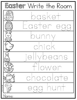 Easter Write the Room ~ Differentiated