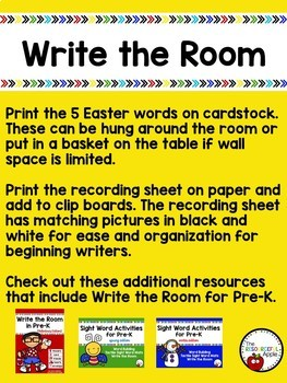 Easter Write the Room FREEBIE