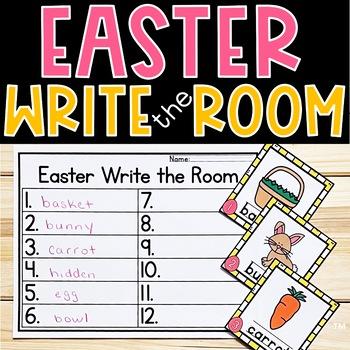 Easter Write the Room Kindergarten Activity