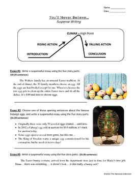 Easter Writing: 12 Printable Prompts (Grades 3-7)