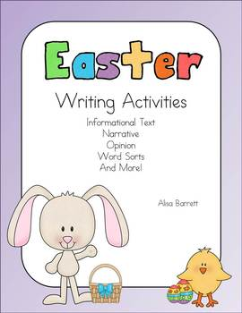 Easter Writing Activities Common Core Aligned