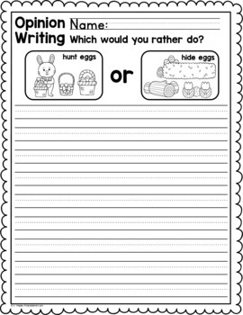 Easter Writing Activities for centers, small groups, whole class, or sub days!