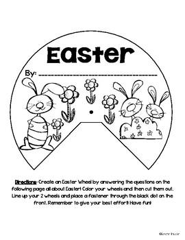Easter Writing Activity Wheel Craft FREEBIE