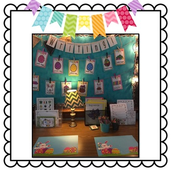 Easter Themed Big Writing Station Cards
