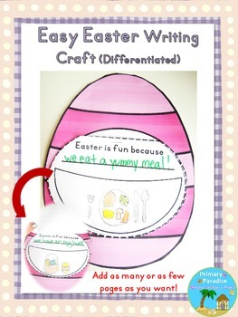 Easter Writing Craft {Easy and Differentiated}