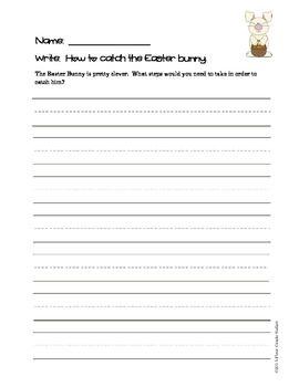 Easter Writing Pack - 7 great prompts with organizers and paper