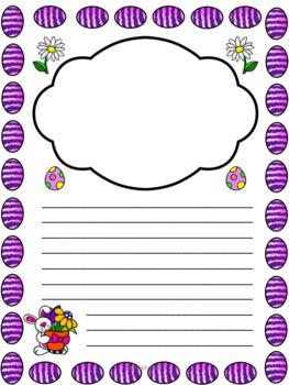 Easter Writing Pages - Feuilles d'écriture de Pâques