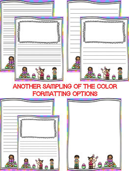 Easter Writing Paper--Easter Writing Stationary--DIFFERENTIATED
