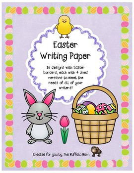 Easter Writing Paper- Lined Stationary with Borders