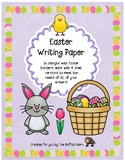 Easter Stationery- Lined Writing Paper with fun Borders to Color!