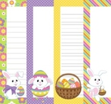 Easter Writing Papers - 3 Styles - (7 1/2 x 10)