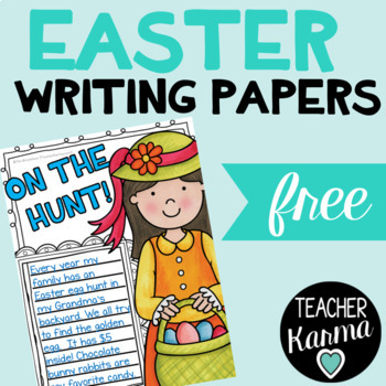 Easter Writing Papers Freebie