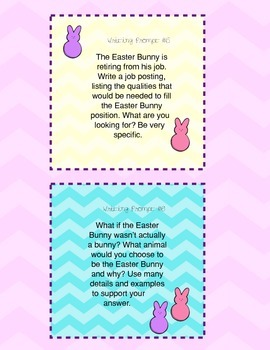 Easter Writing Prompt Cards