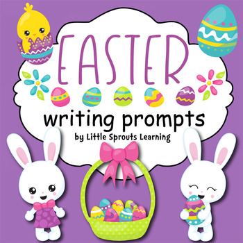 Easter Writing Prompts - 25 prompts (in color and black/white