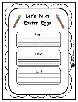 Easter Writing Prompts Featuring First, Next, and Last