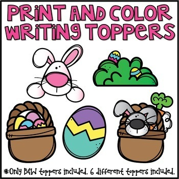 Easter Writing Prompts & Page Topper Craftivities