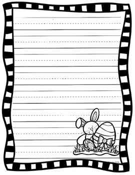 Easter Writing Sheets