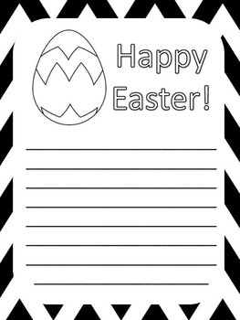 Easter Writing Templates