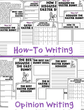 Easter Writing Unit: Disguising the Easter Bunny Writing Unit and Craftivity