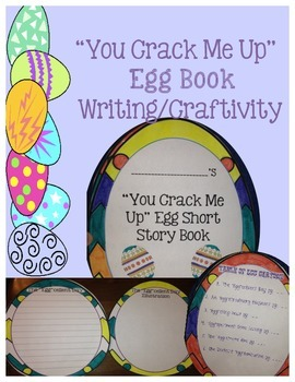 "Easter Writing: ""You Crack Me Up"" Egg Book Craftivity"