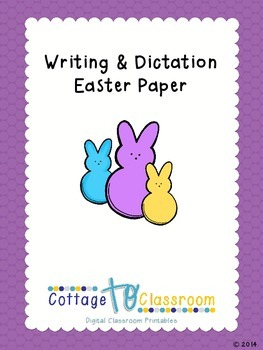Easter Writing and Dictation Paper