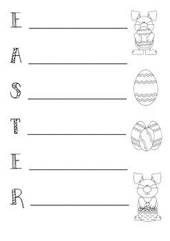 Easter acrostic poem