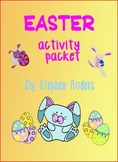 Easter activity variety packet - craft, art, word search +