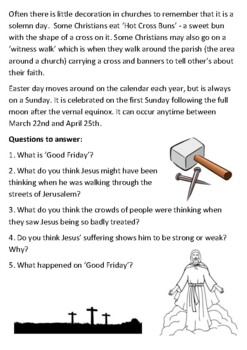 Easter and Good Friday Handout