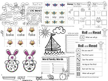 Phonics Worksheets and Games for Spring
