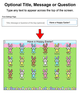 Easter Bunnies Attendance for Interactive Whiteboards - Easter Activities