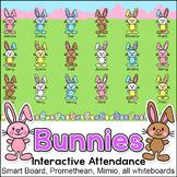 Easter Bunny Attendance for Interactive Whiteboards - April Activity